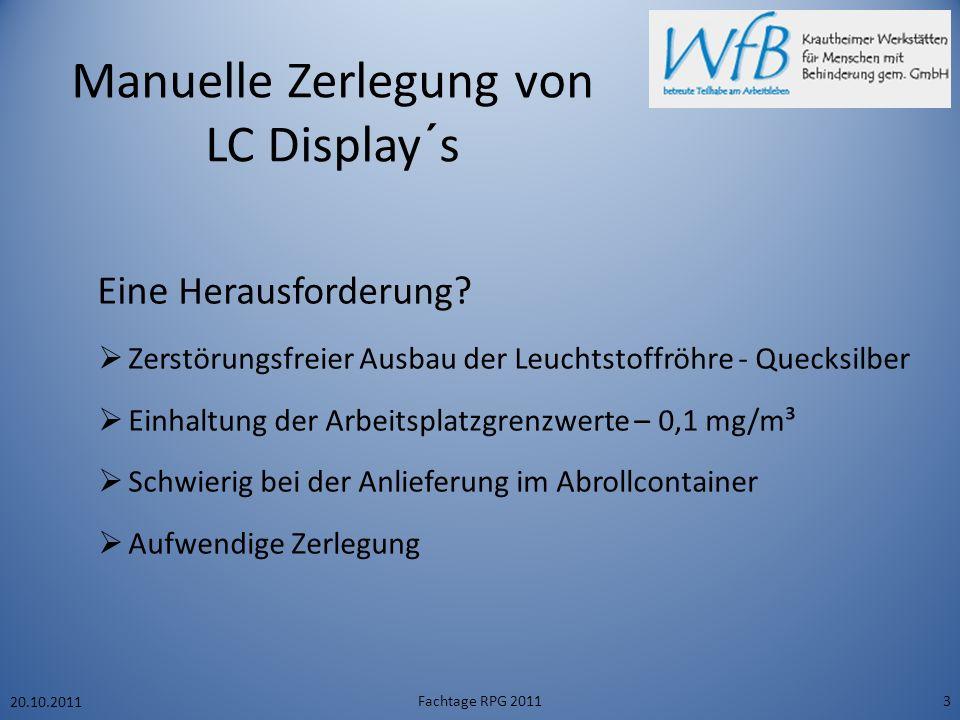Manuelle Zerlegung von LC Display´s Eine Herausforderung .