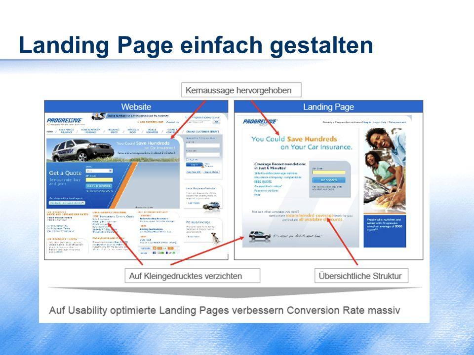 Landing Page einfach gestalten