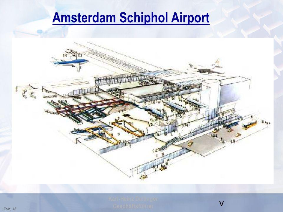 v Folie 18 Karl-Heinz Dullinger Geschäftsführer Amsterdam Schiphol Airport
