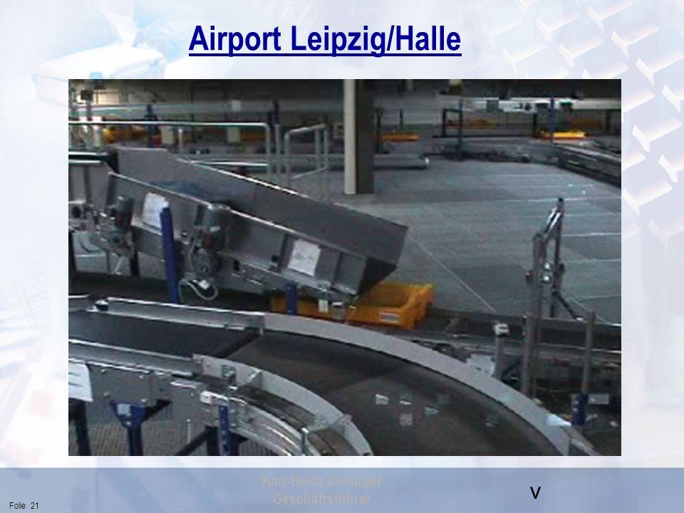 v Folie 21 Karl-Heinz Dullinger Geschäftsführer Airport Leipzig/Halle