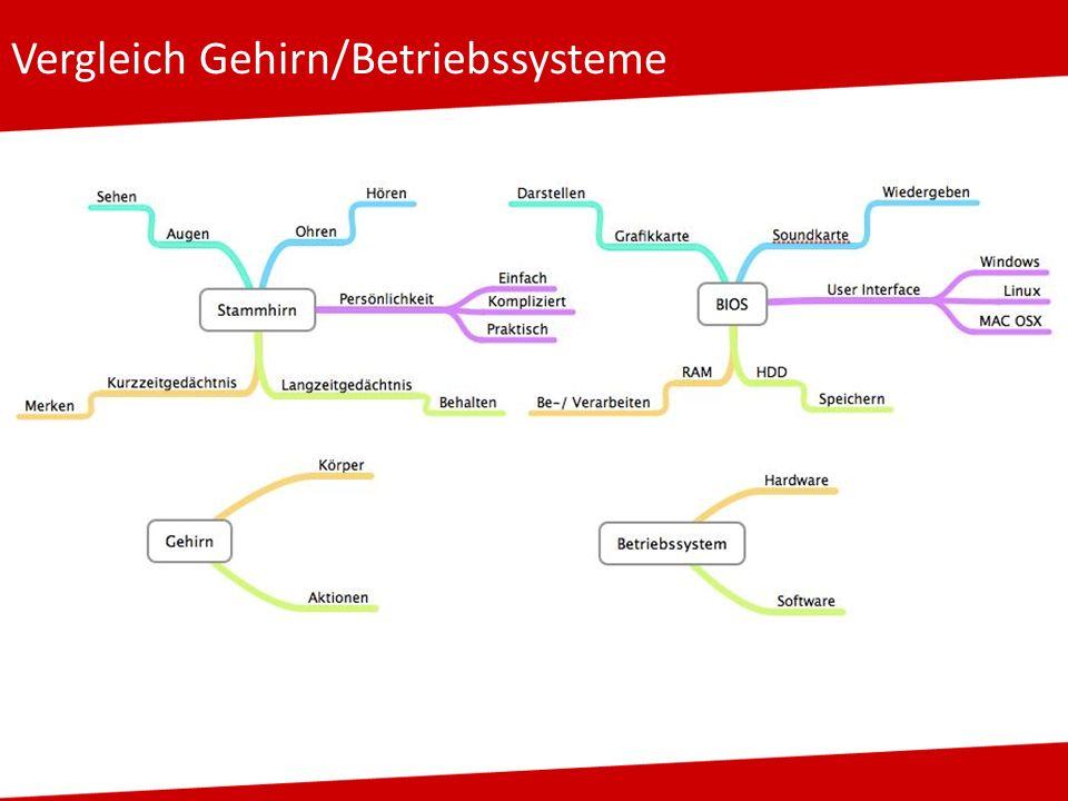 Vergleich Gehirn/Betriebssysteme