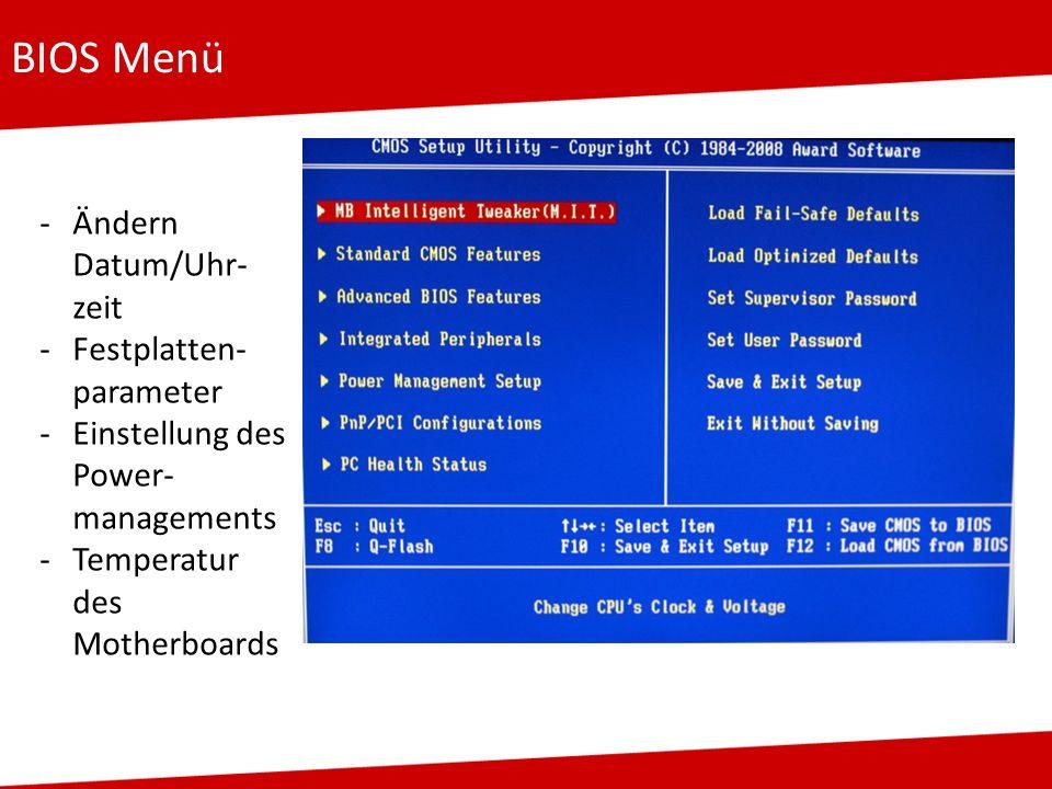 Aufgaben eines Betriebssystems Benutzerführung: z.B.