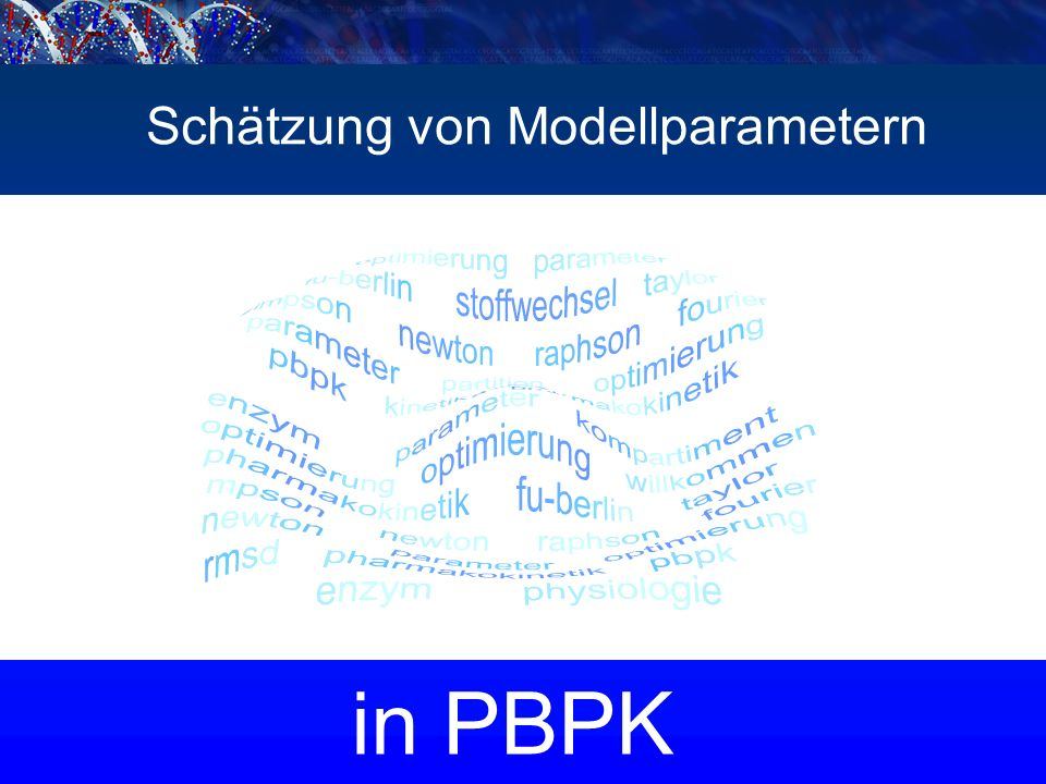 in PBPK Schätzung von Modellparametern