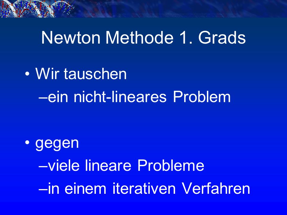 Newton Methode 1.