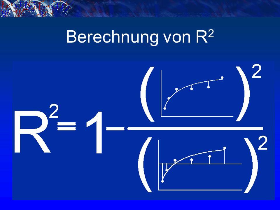 Berechnung von R 2