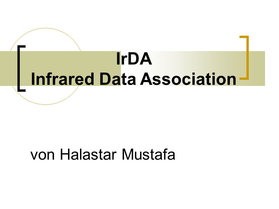 IrDA Infrared Data Association von Halastar Mustafa
