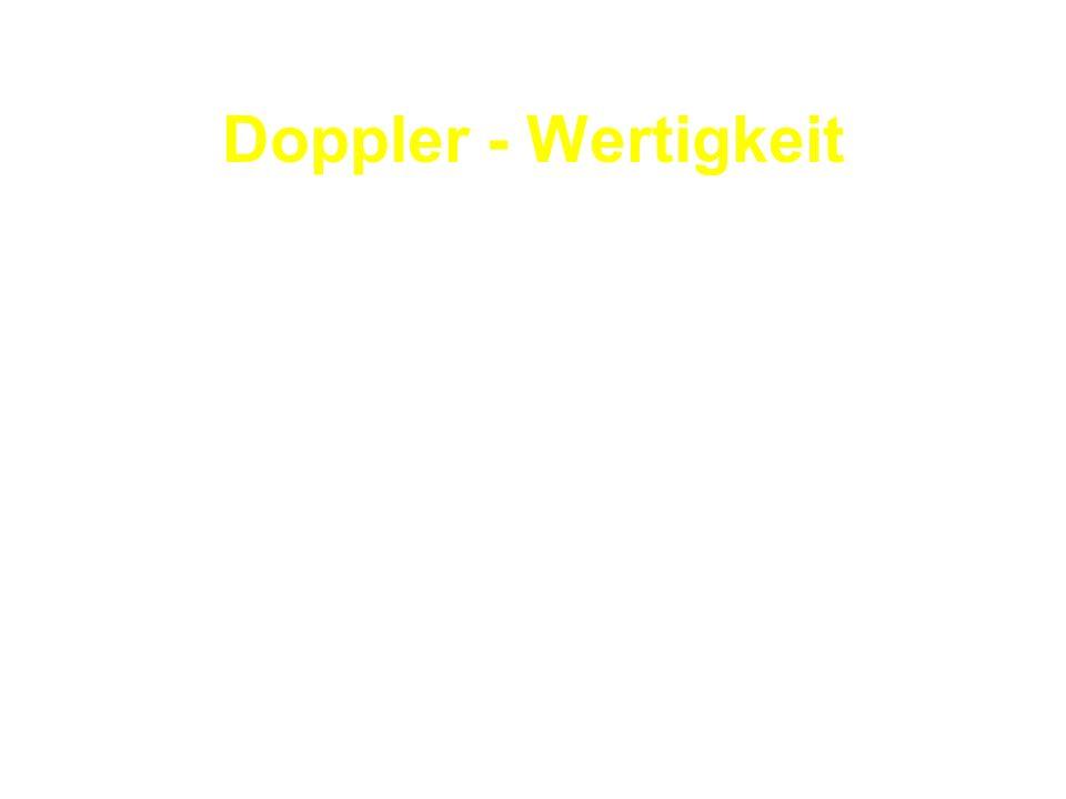 Doppler - Wertigkeit