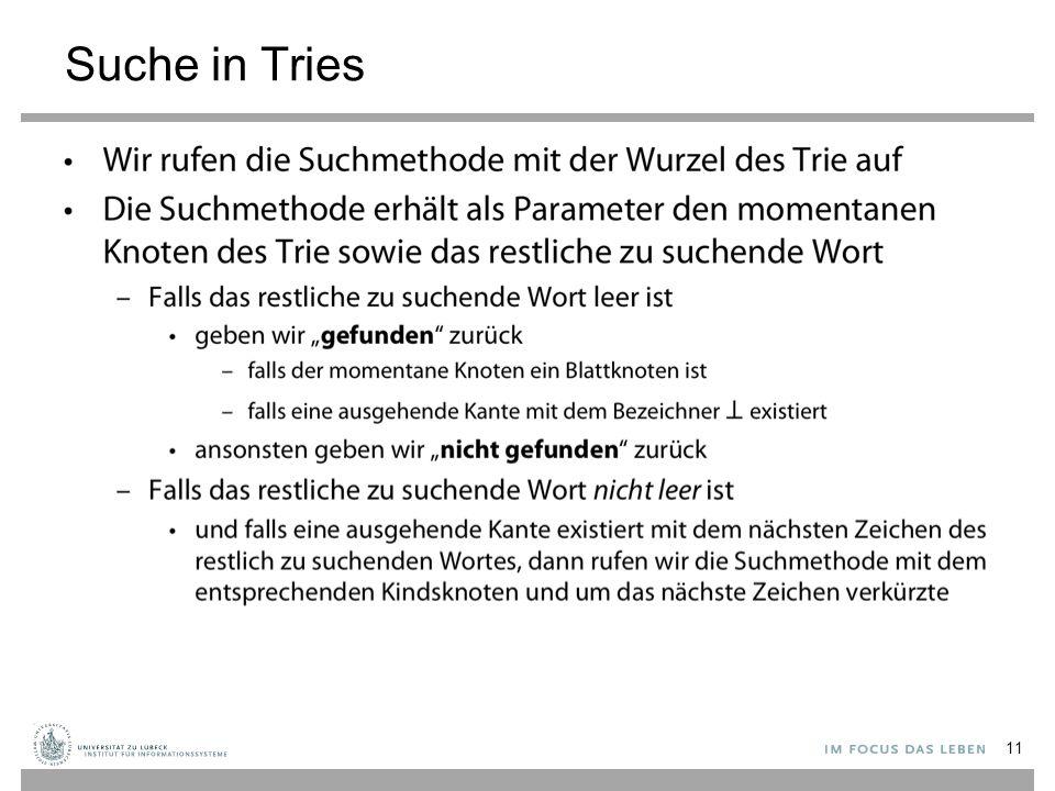 Suche in Tries 11