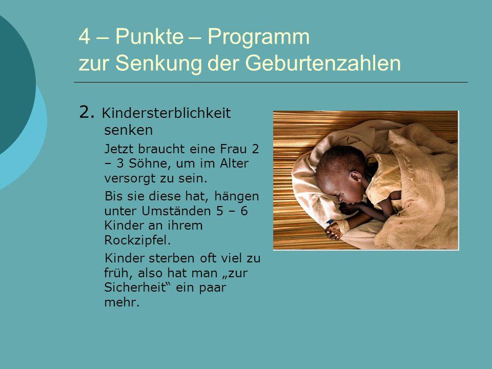 4 – Punkte – Programm zur Senkung der Geburtenzahlen 2.
