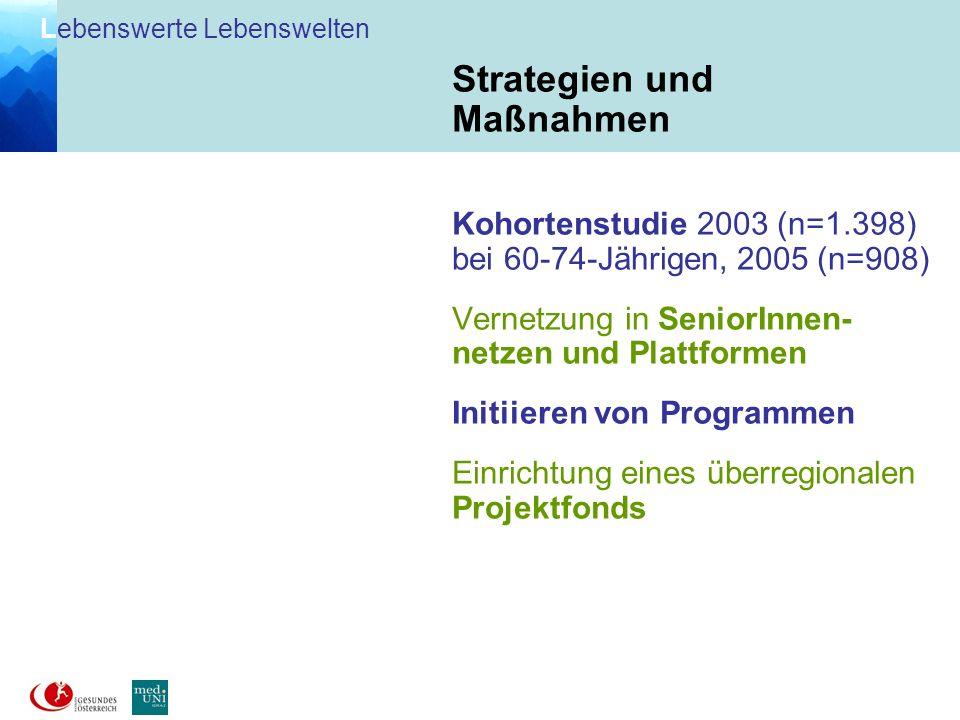 L ebenswerte Lebenswelten Voitsberg (9) Graz-Umgebung (4) Lebenswelt-Gemeinden Kriterien: Pro-Kopf-Einkommen Anteil älterer Menschen VO GU