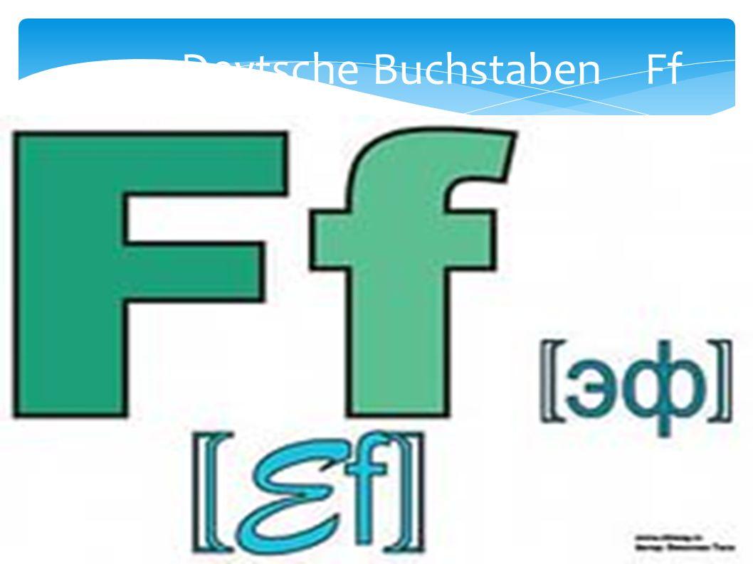 Deytsche Buchstaben Ff