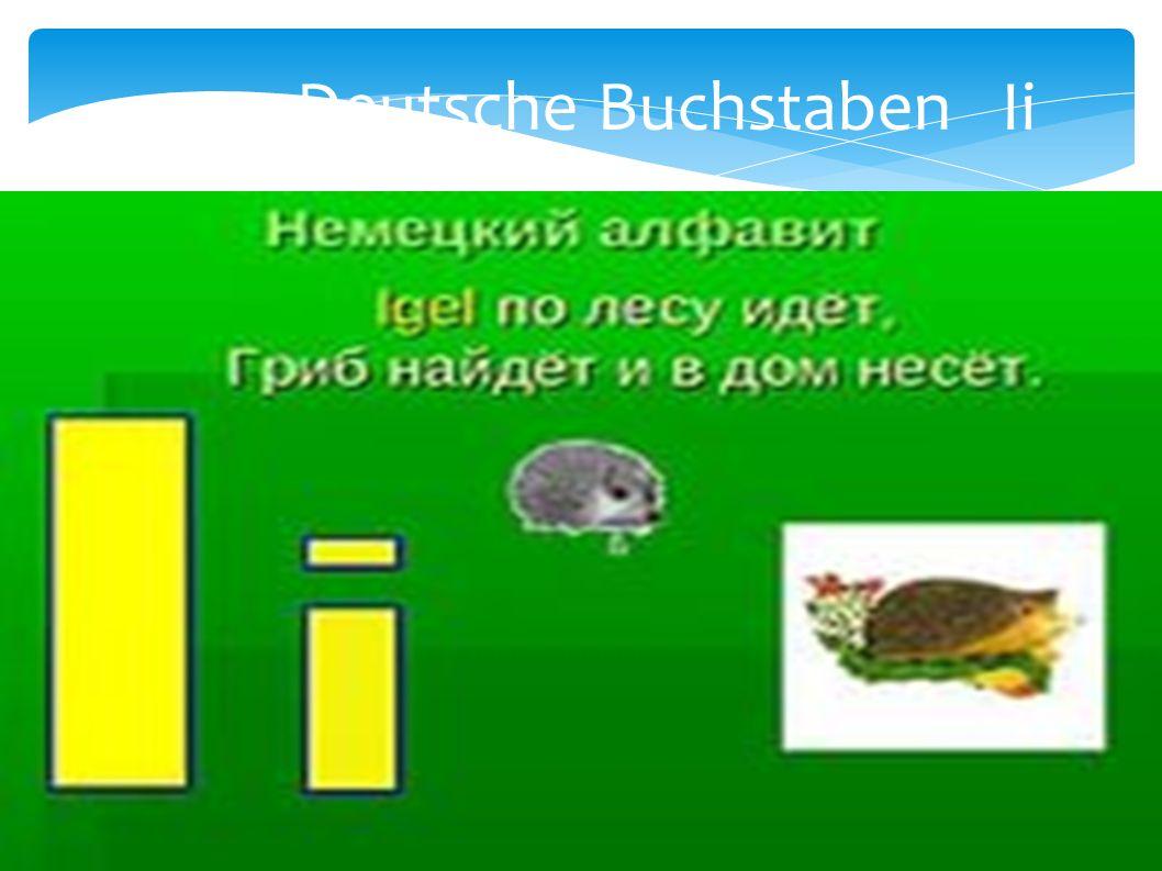 Deutsche Buchstaben Ii
