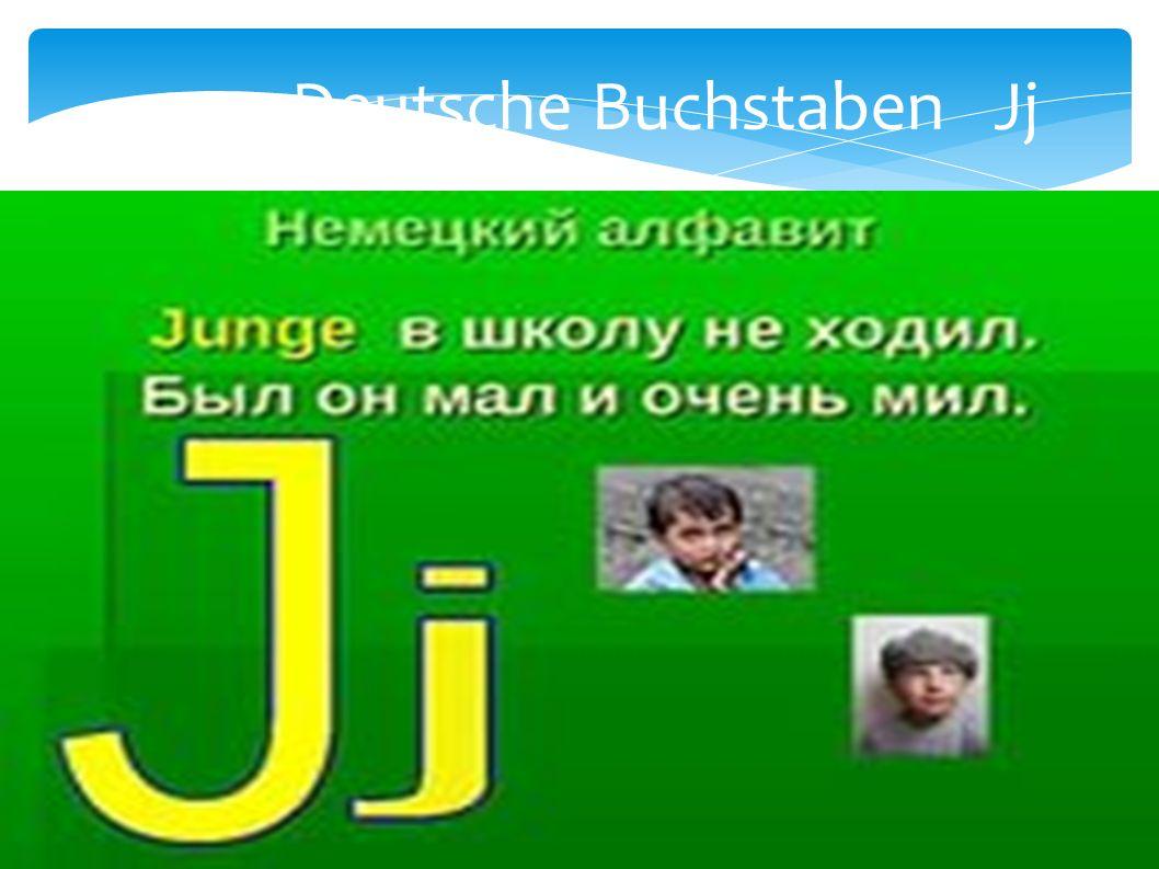 Deutsche Buchstaben Jj
