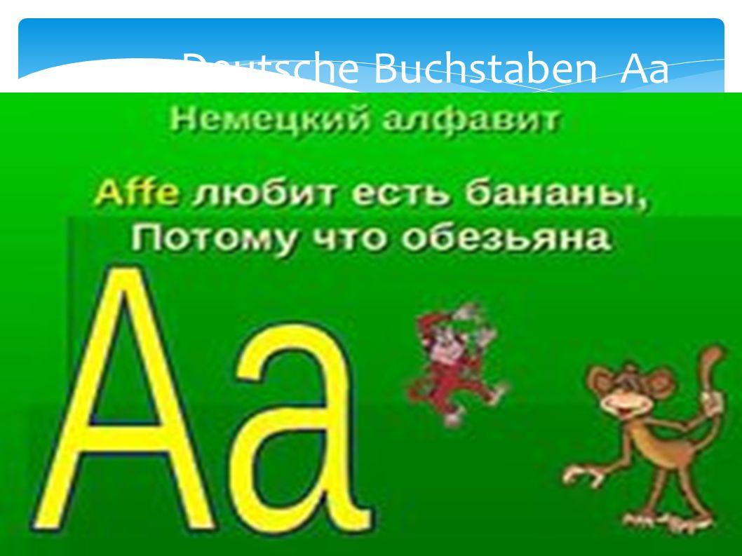 Deutsche Buchstaben Aa