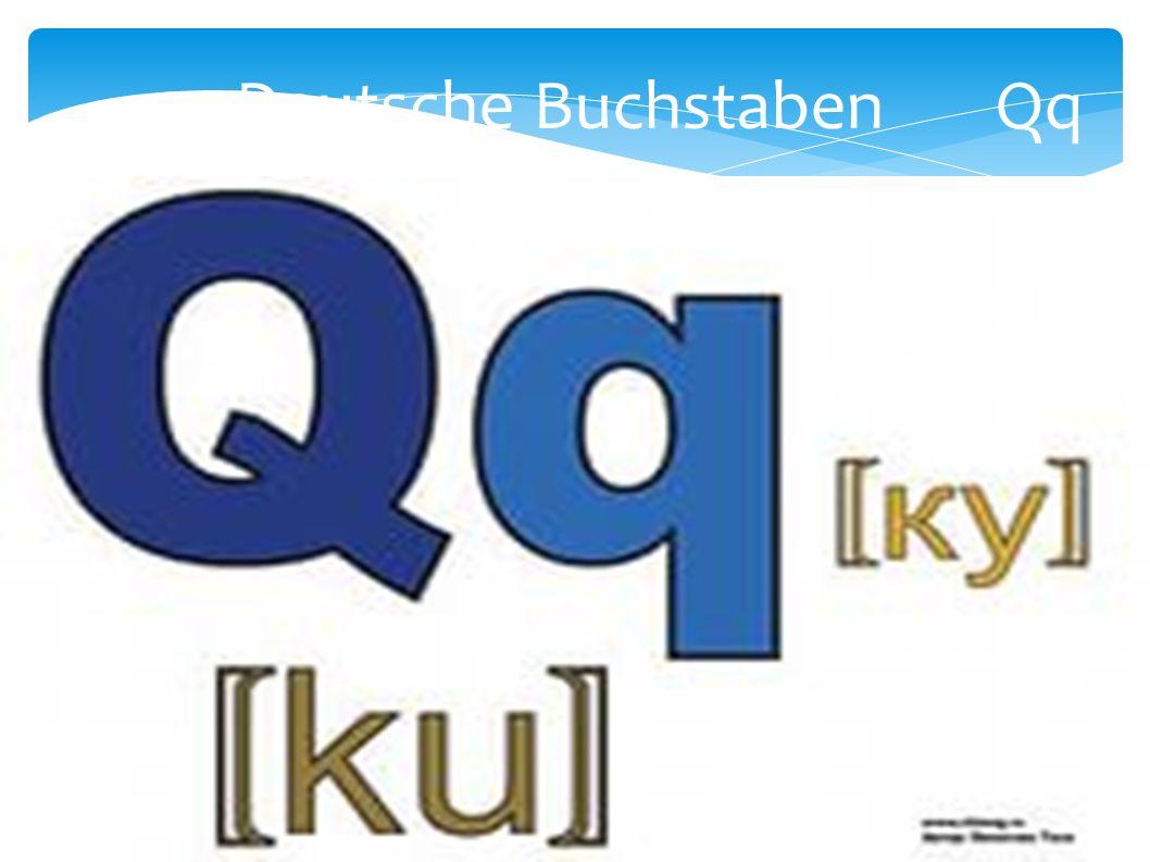 Deutsche Buchstaben Qq