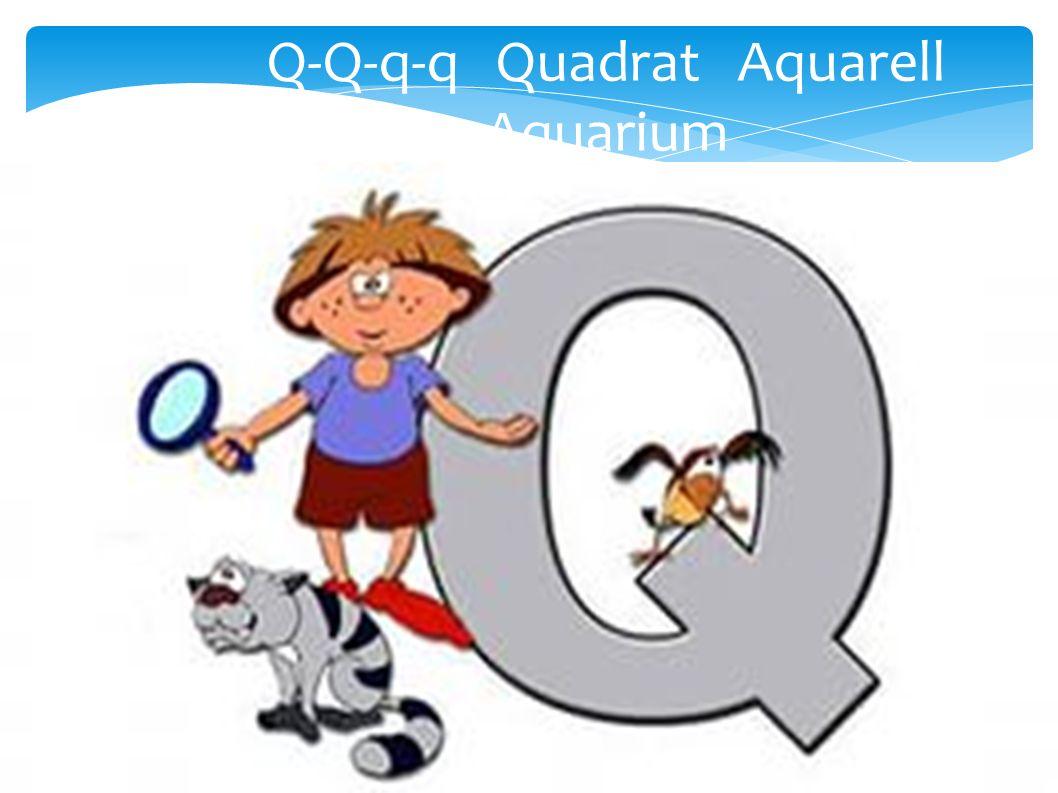 Q-Q-q-q Quadrat Aquarell Aquarium