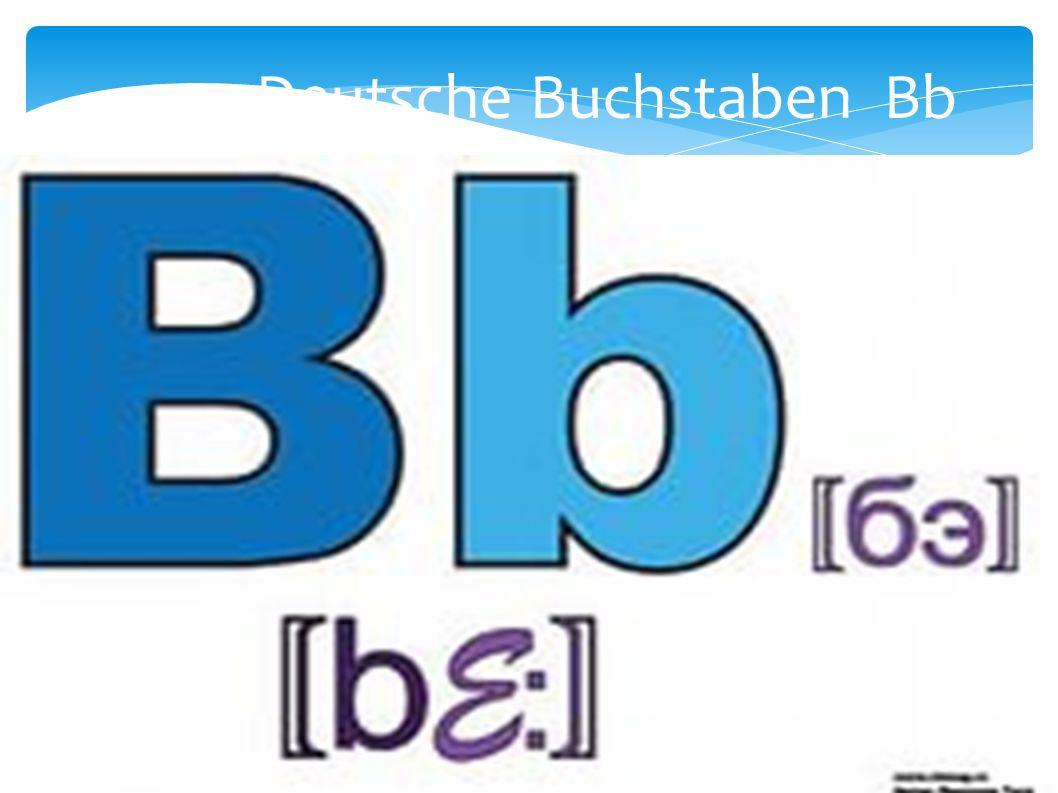 Deutsche Buchstaben Bb