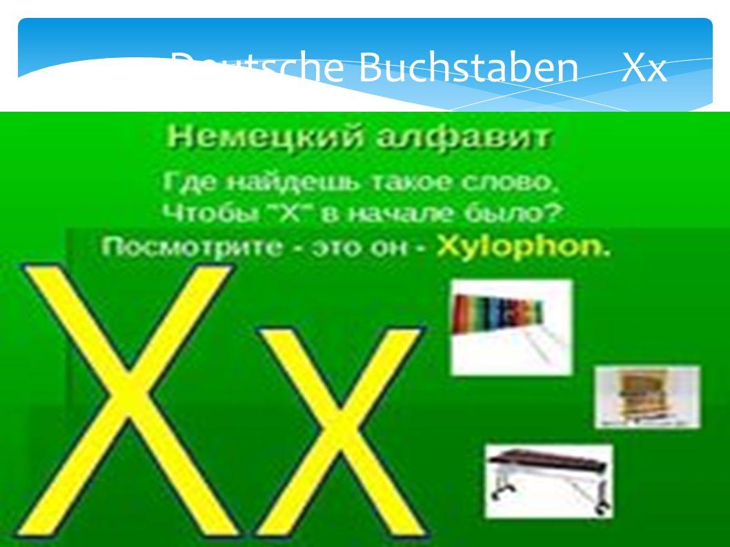 Deutsche Buchstaben Xx
