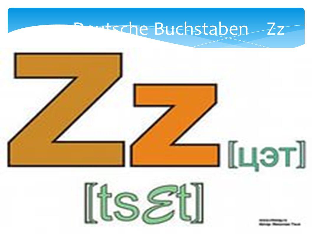 Deutsche Buchstaben Zz