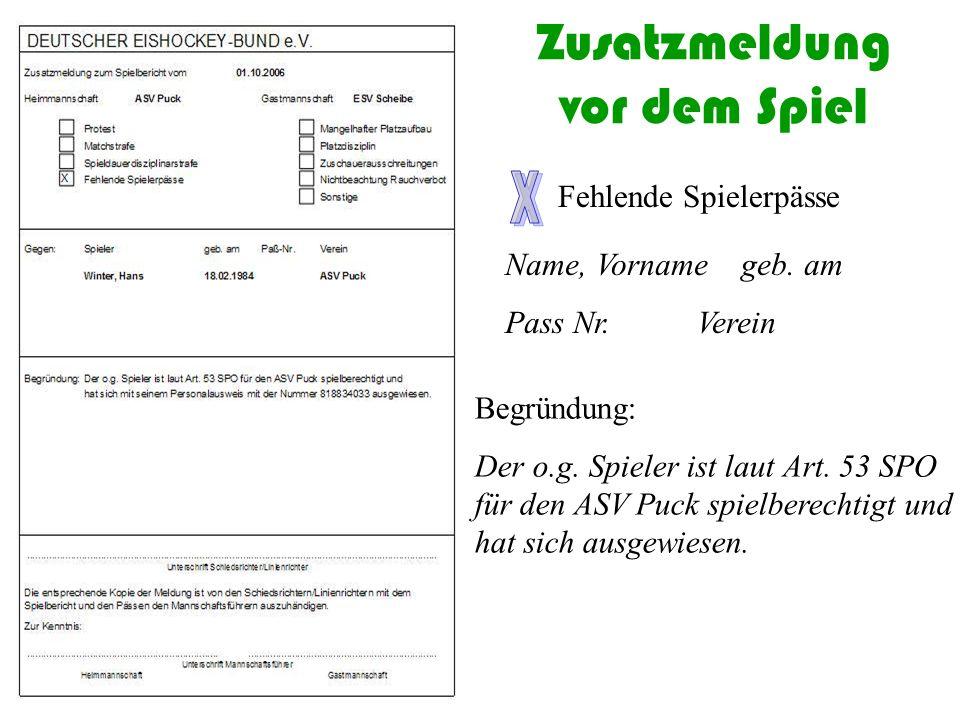 Mannschaftsaufstellung im Spielbericht  Position  Dress Nr.