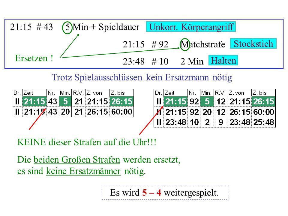 43:18# 552 Min + Diszi 43:18# 42 Min + Diszi 44:48Tor# 33, 84, 10 Check geg.