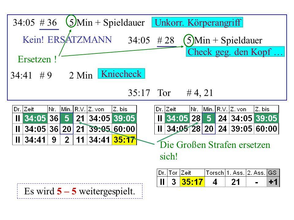 24:11# 76Matchstrafe 24:43# 192 Min 24:43# 32 Min 26:04Tor# 50, 4 Stockschlag Faustschlag Beinstellen Ersetzen .
