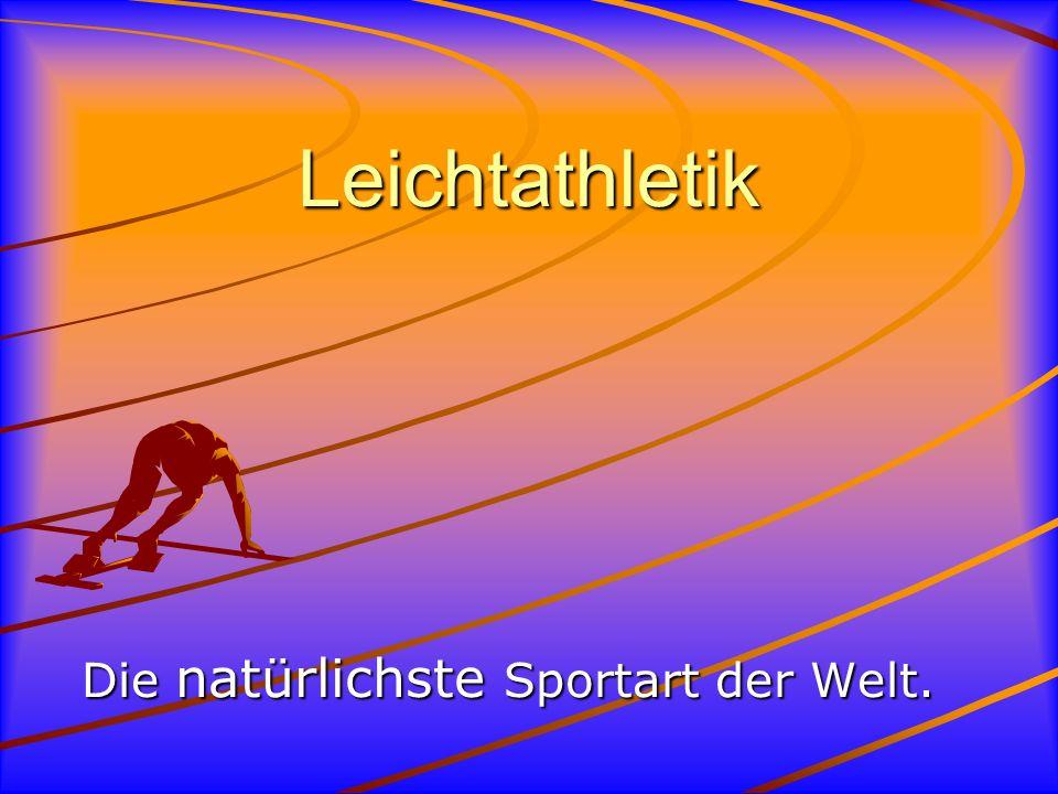 Der Stabhochsprung Beim Stabhochsprung federt man sich mit Hilfe eines Stabes in die Höhe und kann dadurch sehr hoch (bis zu sechs Metern) springen.