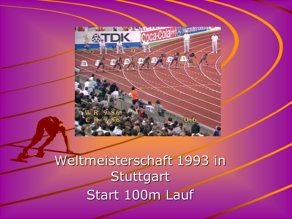 Weltmeisterschaft 1993 in Stuttgart Start 100m Lauf