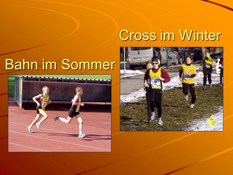 Bahn im Sommer Cross im Winter
