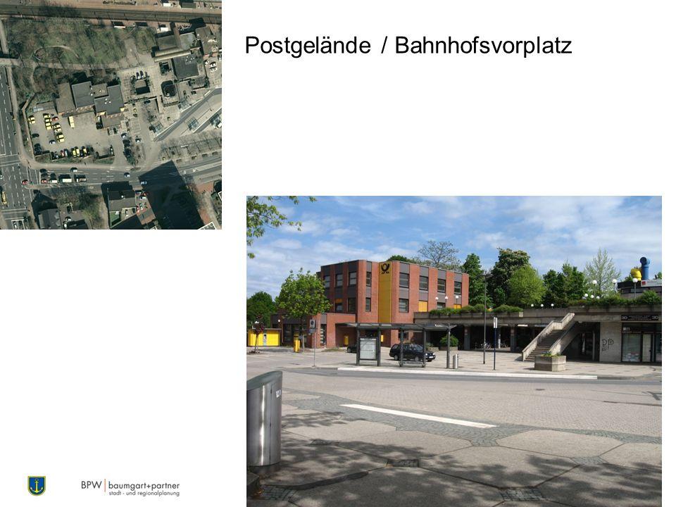 Postgelände / Bahnhofsvorplatz