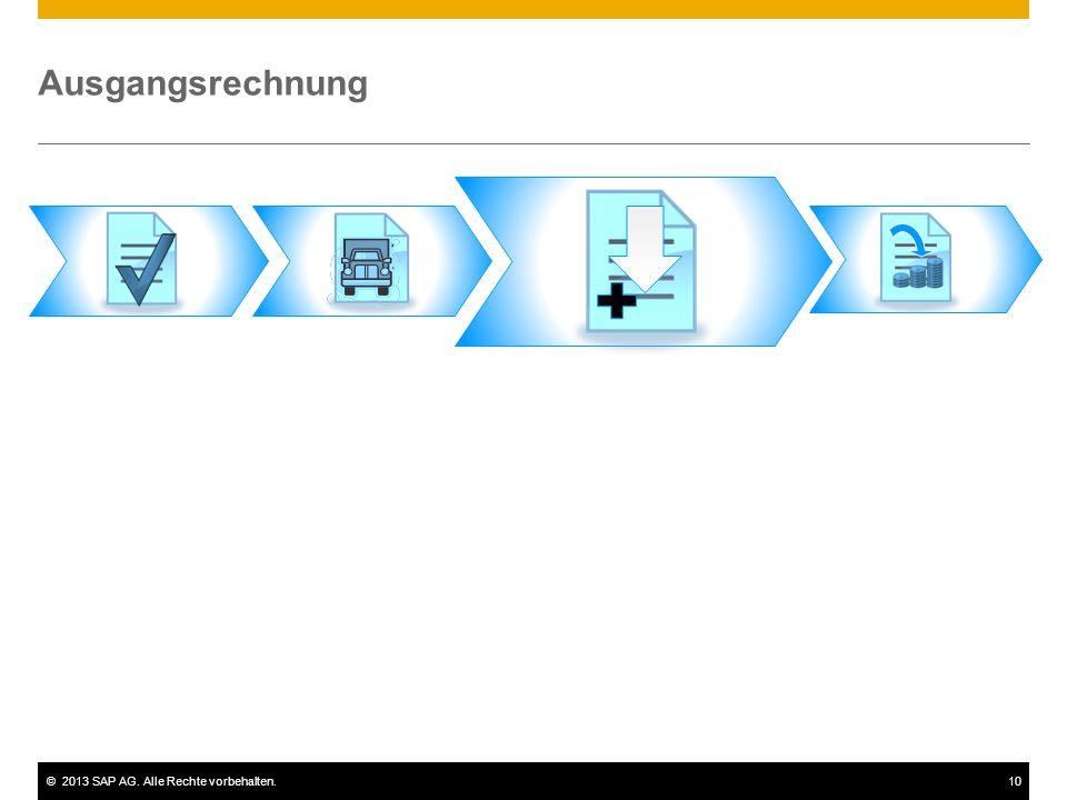 ©2013 SAP AG. Alle Rechte vorbehalten.10 Ausgangsrechnung