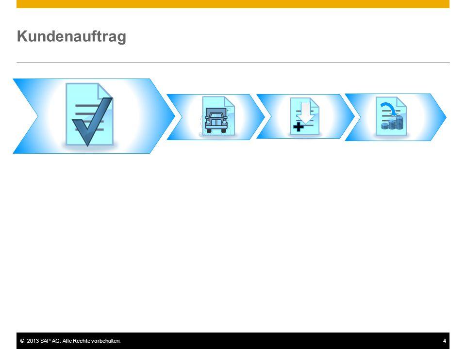 ©2013 SAP AG. Alle Rechte vorbehalten.4 Kundenauftrag