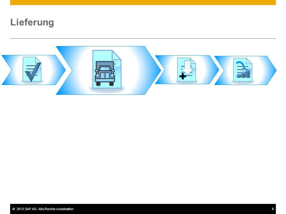 ©2013 SAP AG. Alle Rechte vorbehalten.6 Lieferung