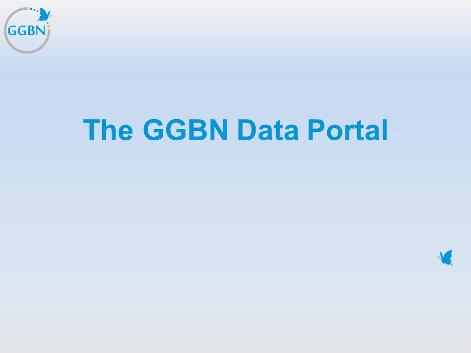 Textmasterformat bearbeiten –Zweite Ebene Dritte Ebene –Vierte Ebene »Fünfte Ebene Titelmasterformat durch Klicken bearbeiten The GGBN Data Portal