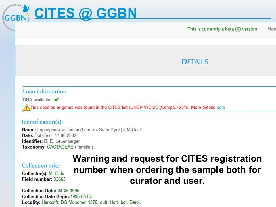 Textmasterformat bearbeiten –Zweite Ebene Dritte Ebene –Vierte Ebene »Fünfte Ebene Titelmasterformat durch Klicken bearbeiten CITES @ GGBN Warning and