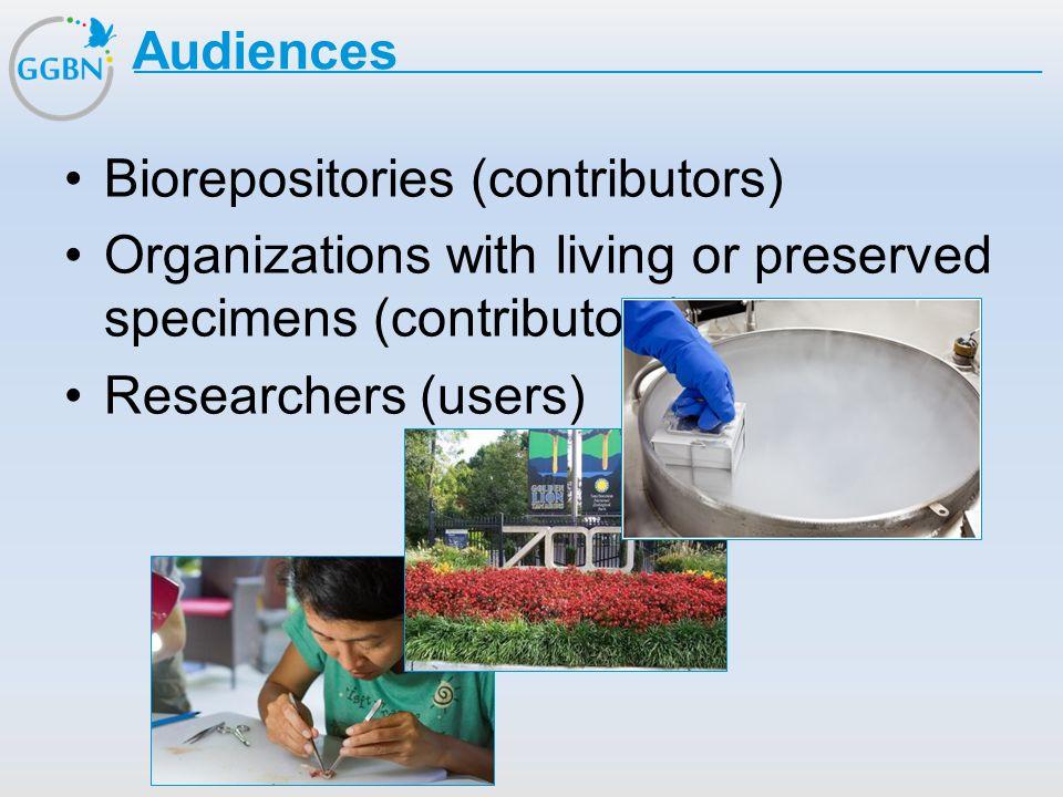 Textmasterformat bearbeiten –Zweite Ebene Dritte Ebene –Vierte Ebene »Fünfte Ebene Titelmasterformat durch Klicken bearbeiten Audiences Biorepositorie