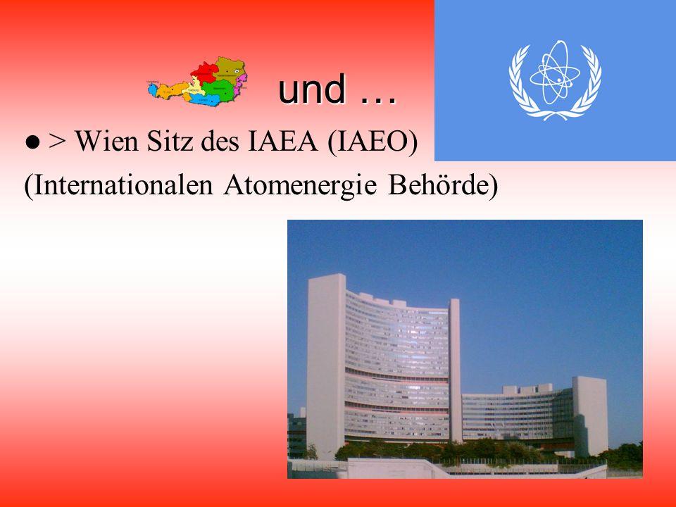 Mitglied … … > 1955 UNO (Organisation der Vereinten Nationen) → seit 1979: Wien dritte UNO Stadt … > 1956 Europarat … > 1960 EFTA (Europäische Fair-Handels – Organisation)