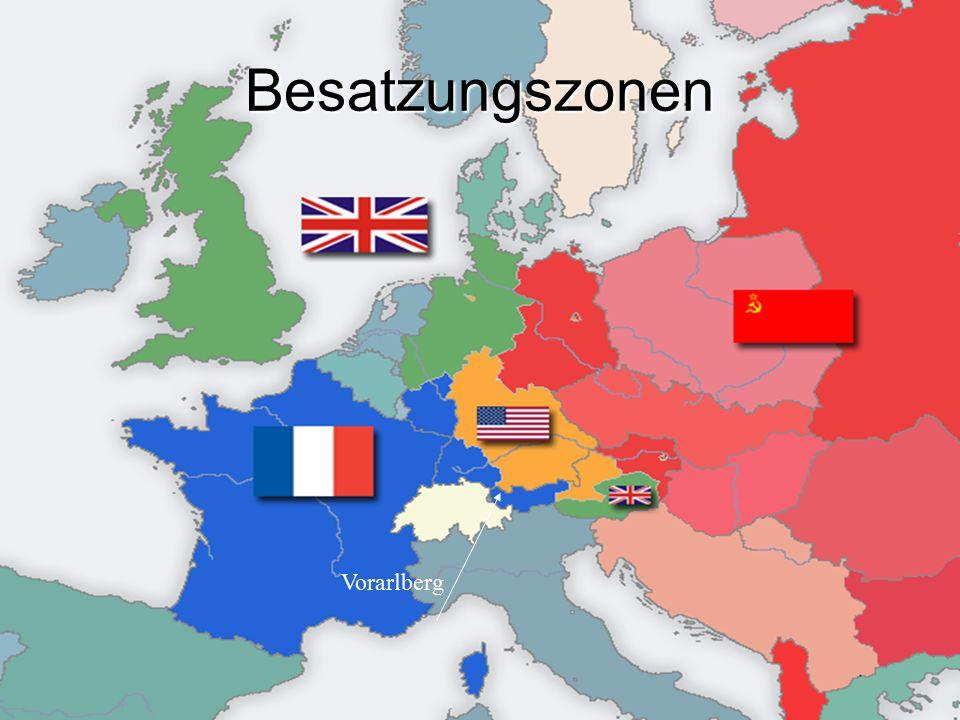 Besatzungszonen Vorarlberg
