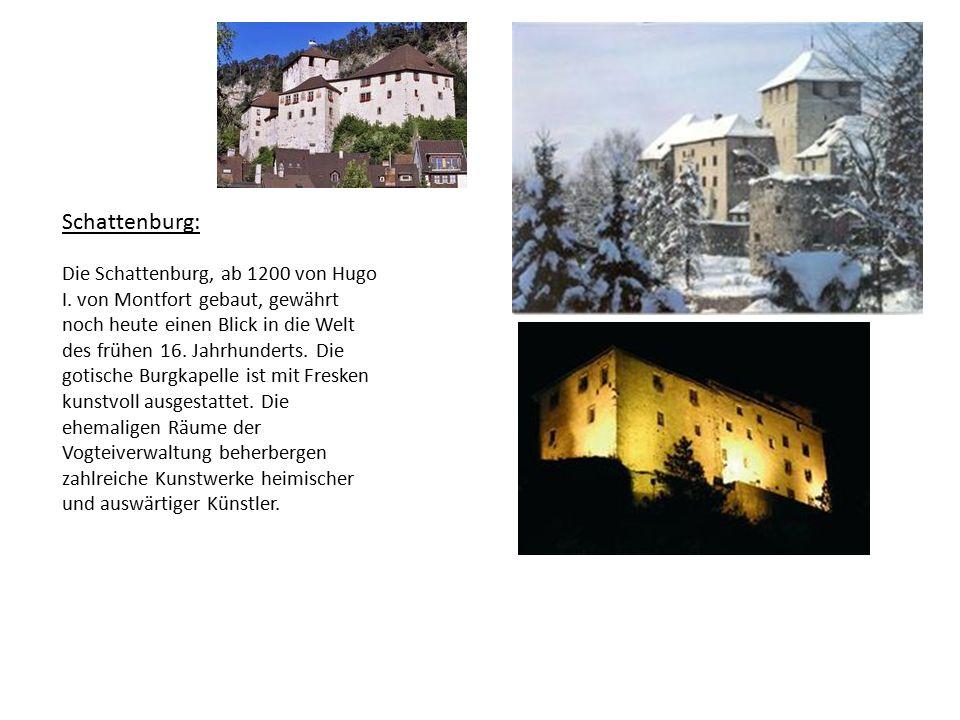 Die Schattenburg, ab 1200 von Hugo I.