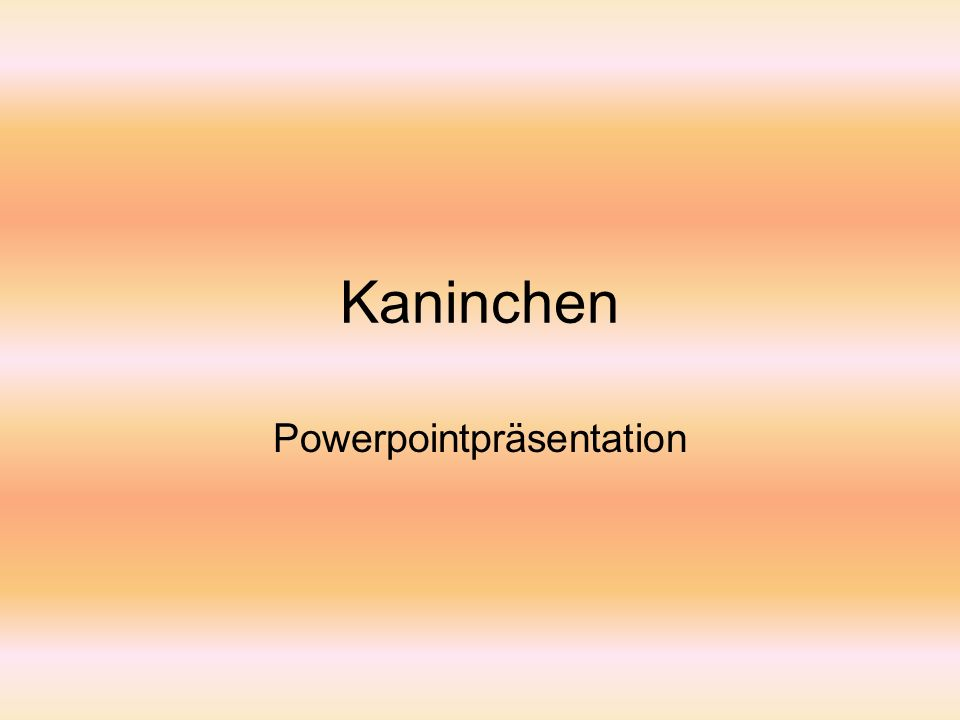 Kaninchen Powerpointpräsentation