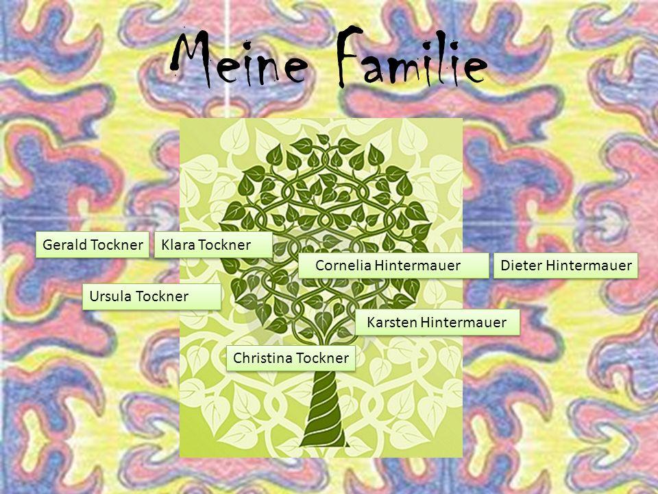 Meine Familie Ursula Tockner Klara Tockner Cornelia HintermauerDieter Hintermauer Karsten Hintermauer Christina Tockner Gerald Tockner