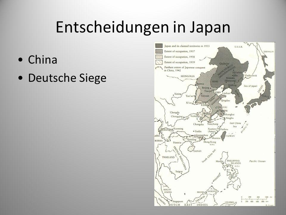 Entscheidungen in Japan China Deutsche Siege