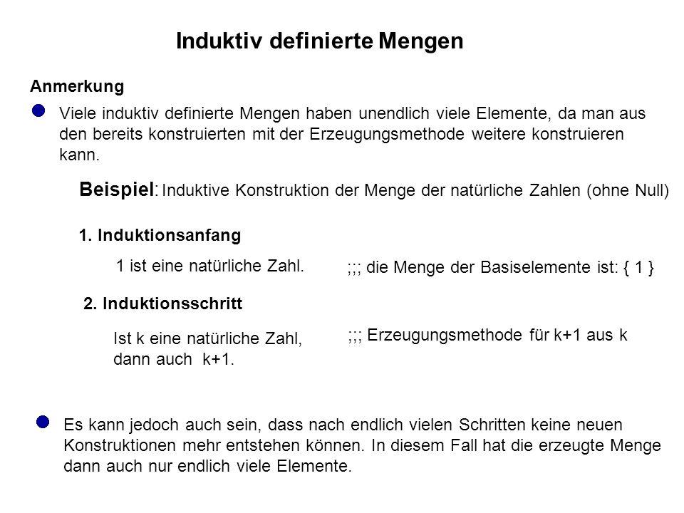 Induktiv definierte Mengen 1.