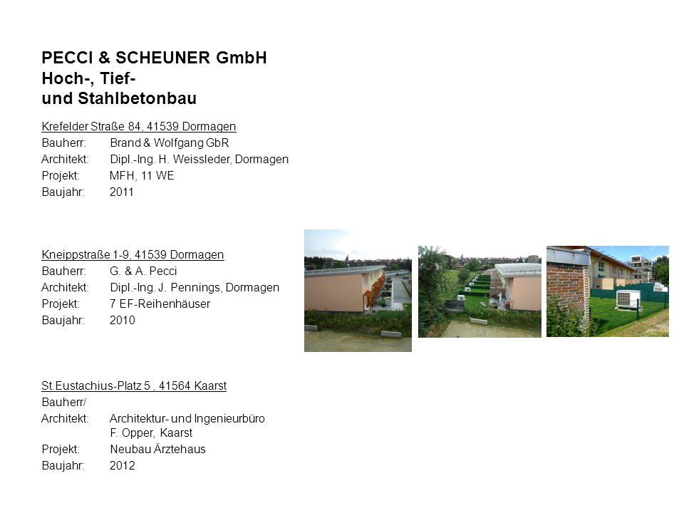 Krefelder Straße 84, 41539 Dormagen Bauherr:Brand & Wolfgang GbR Architekt:Dipl.-Ing. H. Weissleder, Dormagen Projekt: MFH, 11 WE Baujahr:2011 Kneipps