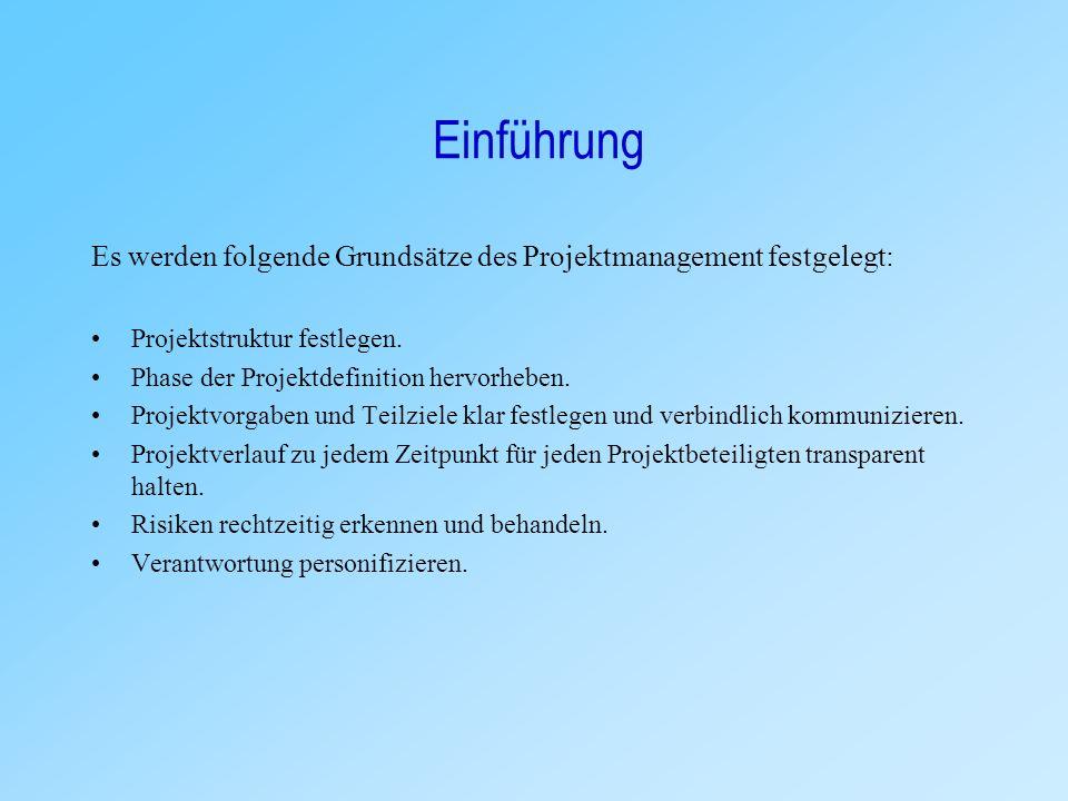 """Definitionen Projektmanagement Nach der DIN- Norm bedeutet """"Projektmanagement"""" die Gesamtheit von Führungsaufgaben, - organisation, - techniken und –"""