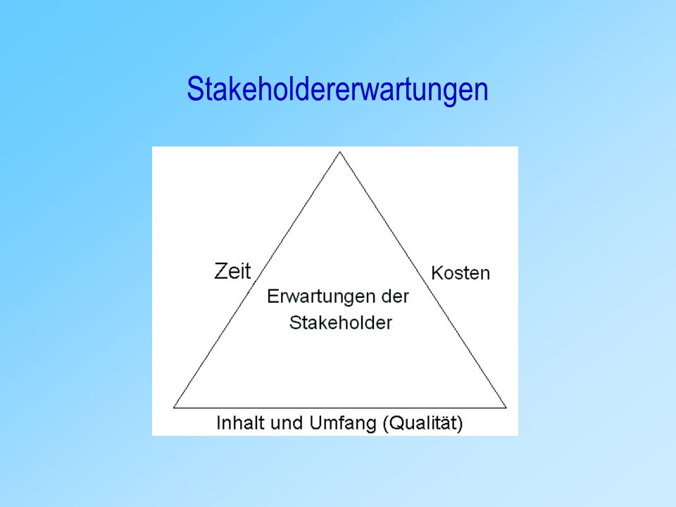 Definition – Stakeholdererwartungen