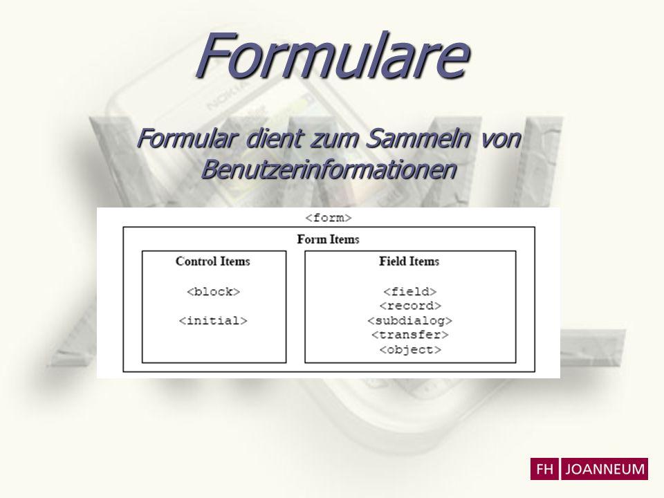 Formulare Formular dient zum Sammeln von Benutzerinformationen