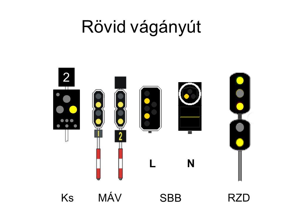 Rövid vágányút Ks L N 2 RZDMÁV SBB