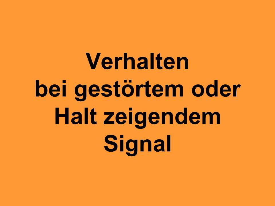 Vorläufig abgeschaltete SBB Signale Freies Rangieren Unterteilung des Bahnhofsgleises