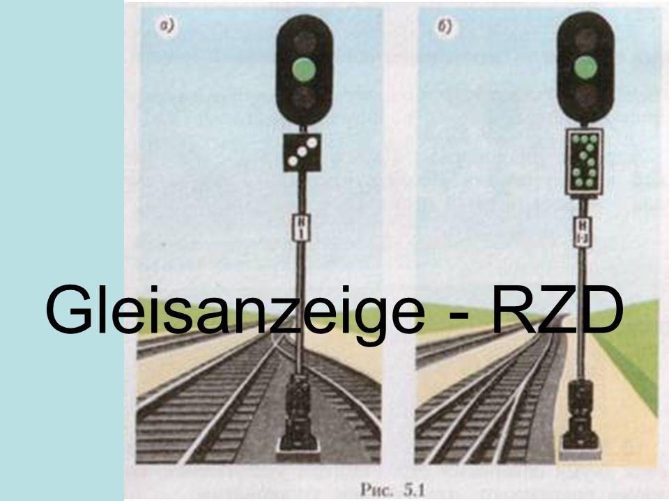 Gleisanzeige - RZD
